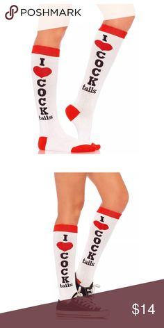 JUST IN💋 I LOVE COCKtails KNEE HIGHS Acrylic knee high socks. Dare to wear these fun attention grabbing socks.  PRICE FIRM UNLESS BUNDLED. BUNDLES GET 30% OFF Accessories Hosiery & Socks