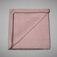 Solid Linen Napkin, Pink/Cocoa