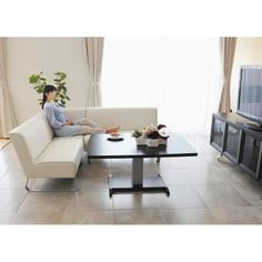 LD(リビングダイニング)兼用昇降テーブル&ソフトレザーソファー お得な4点セット