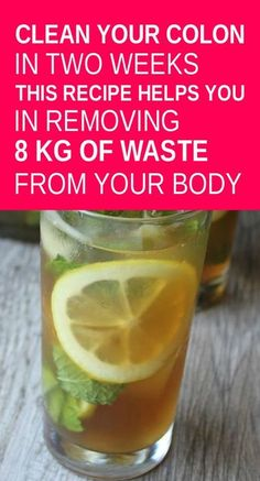 This Drink Helps Clean Your Colon. The colon is the final part of the large intestine. This serves several important functions in the body. It controls the water balance, aids digestion and helps to keep the immune system strong. Healthy Detox, Healthy Drinks, Healthy Tips, Healthy Protein, Healthy Weight, Body Cleanse, Body Detox, Cleanse Detox, Intestine Detox Cleanse