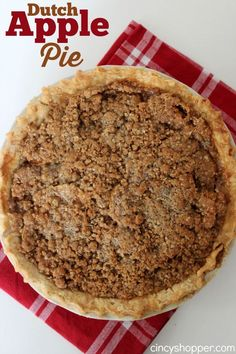 Dutch Apple Pie Super delish homemade pie that is perfect for fall.
