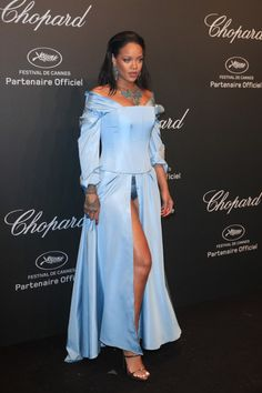 celebsofcolor: Rihanna attends the Chopard SPACE Party hosted