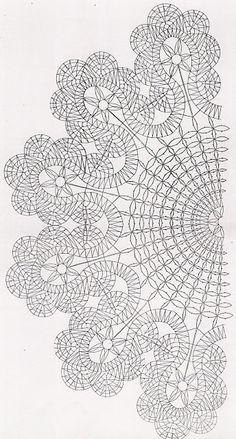 Beautiful project to try Filet Crochet, Irish Crochet, Crochet Motif, Crochet Doilies, Crochet Lace, Crochet Stitches, Crochet Patterns, Crochet Edgings, Cross Stitches