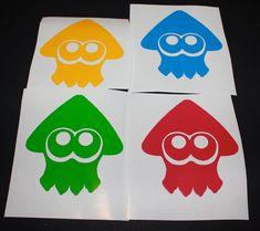 Splatoon Squid Decal by NerdAlert54 on Etsy
