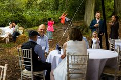 I love a busy scene like this one from Vicky and Matt's Woodland Wedding -