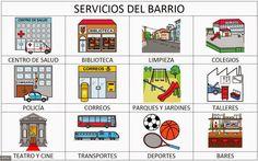 LA ARDILLA DIGITAL: FICHAS PARA TRABAJAR LOS SERVICIOS DEL BARRIO