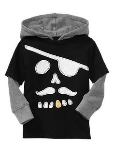 2-in-1 scary skull pirate hoodie for boys| Gap $24.95    Earn 1% cash back when you shop with KickItBack!