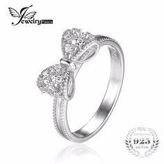 Jewelrypalace arco cubic zirconia anniversario di matrimonio anello per le donne soild 925 sterling silver jewelry per party girl friend regalo