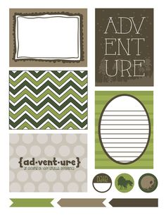 Free Printables: Adventure filler/journal cards from TheCreativeMonster  ~~  perfect for #ProjectLife