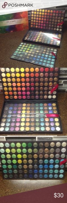 Eyeshadow 252 Ultimate Palette NIB Ultimate Palette 252 eyeshadow colors by Coastal Scents. Includes sheer to intense shades to create looks for day or night. Each color can be applied dry or wet. This all in one palette includes 3 individual trays that are stored in a black matte case great for storage or travel. NIB Coastal Scents Makeup Eyeshadow