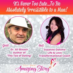 "Ali Binazir - Author of ""The Tao of Dating"" is sharing with you how it's never too late for women over 40 to be absolutely irresistible to a man when dating. Dr Ali, How To Be Irresistible, Dating Coach, Dating Advice, Never, Believe, Author, Age, Women"