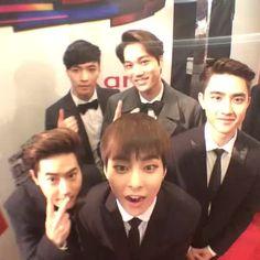EXO's Yixing, Jongin, Joonmyun, Minseok, & Kyungsoo