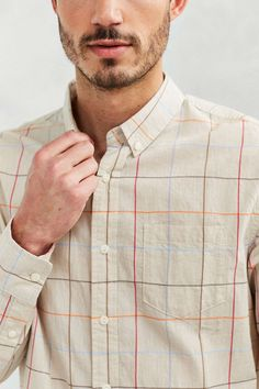 Penfield Almount Check Long-Sleeve Button-Down Shirt - Urban Outfitters