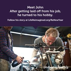 After getting laid off from his job, John turned to his hobby: rebuilding motorcycles. Three years later he's moving his business out of his garage and into a permanent space. Follow his story at http://renewyear.lifereimagined.org/