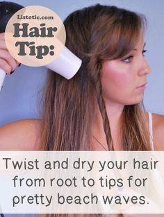 Natural beach waves easy hair tips