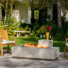 Salta Stone Propane Fire Pit Table