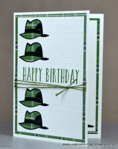 Well Dressed Cling Stamp Set 152300 (Stampin' Up! Masculine Birthday Cards, Birthday Cards For Men, Handmade Birthday Cards, Man Birthday, Masculine Cards, Boy Cards, Men's Cards, Birthday Sentiments, Fathers Day Cards