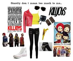 """""""Killjoy outfit- My Chemical Romance"""" by bandsandbroadway ❤ liked on Polyvore featuring Topshop, Valentino, Paige Denim, Funk Plus, Converse, Calvin Klein and AGNELLE"""