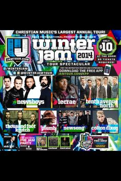 WINTER JAM LECRAE AND NEWSBOYS ARE GONNA BE THEREEEEEEEEEE AAAAAAAAAAAAAAAAAAAAAAAAAAA