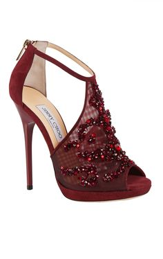 Wedding shoes burgundy jimmy choo 19 Ideas for 2019 Pretty Shoes, Beautiful Shoes, Cute Shoes, Me Too Shoes, High Heels Stiletto, Stilettos, Zapatos Shoes, Shoes Heels, Heeled Sandals