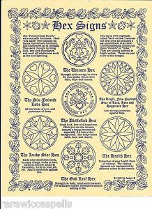 Hex-Signs-Sigils-for-Wicca-Book-of-Shadows-Pagan-Occult-Spell-on-Parchment