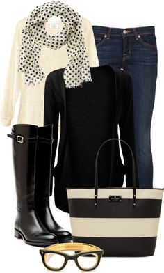 Black and white fall/winter outfit