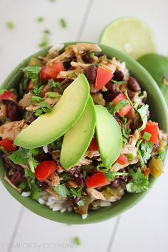 Yield: Makes approx. 6 servings  Ingredients:    2 boneless skinless chicken breasts, thawed    2 (15 oz.) cans black beans, drained and rinsed    2 cups low-sodium chicken broth    1 large bell pepper, chopped into 1/2-inch pieces    1/2 yellow onion,…