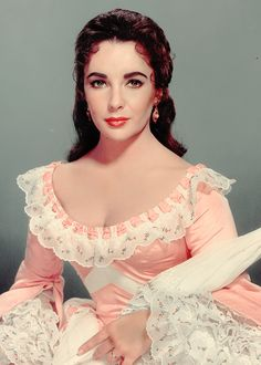 Elizabeth Taylor photographed for Raintree County (1957).