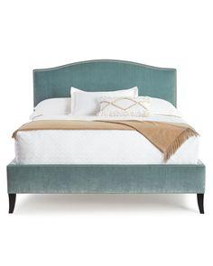 Mallory Queen Bed, Sea Green - Neiman Marcus