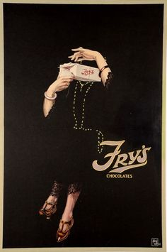"""Original Vintage British Art Deco Poster """"FRY'S Chocolates"""" England 1922 in Art, Art from Dealers & Resellers, Posters   eBay"""