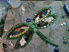 WIP 2' x 2' Stepping Stone - Dragonfly by Fiddlekate (Katie Waller), via Flickr