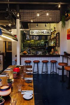 It'll take more than a wall to stop the hordes flooding into this Mexican-infused Clerkenwell taqueria... #restaurantdesign