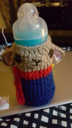 Baby's bottle's sleeve  Deer with scarf