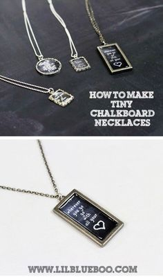 Chalkboard Necklaces (With Chalkboard Download)
