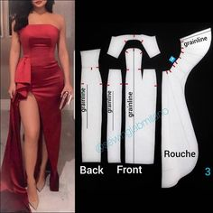 ENG➡️Start by drafting a basic block with darts and zero ease allowance. Mirror the front for the asymmetrical style. Draw the neckline… Corset Sewing Pattern, Skirt Patterns Sewing, Clothing Patterns, Pattern Draping, Gown Pattern, Sewing Blouses, Fashion Project, Clothes Crafts, Fashion Sewing