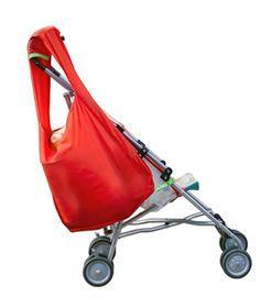 Sureshop Grocery Bag: This reusable tote attaches to the front and back of your stroller, so the weight of your groceries gets distributed safely and evenly.