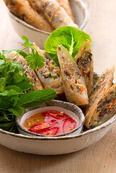 Thuy Pham's fried Vietnamese spring rolls recipe is a crunchy delight, with a simple pork and prawn filling.