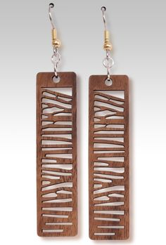 Woodies - Bark Earrings $12.95 Gecko Graphics, Inc.