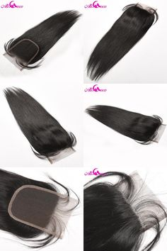 [Visit to Buy] Ali Coco Hair Brazilian Straight Lace Closure With Baby Hair 4x4 Free Part Human Hair Closure Non Remy Hair Free Shipping #Advertisement
