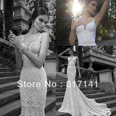 Vestido De Noiva 2014 Sexy Country Lace Wedding Dress Vintage Lace Mermaid Wedding Dress 2014 Bridal Gown Vestido De Casamento