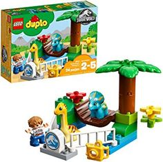 Buy LEGO DUPLO: Gentle Giants Petting Zoo at Mighty Ape NZ. See the baby dinosaurs at the Jurassic World Gentle Giants Petting Zoo! Little dinosaur fans will love to create endless role-play adventures as they. Lego Jurassic World Game, Giant Dinosaur, Dinosaur Party, Lego Duplo Sets, Le Zoo, Baby Dinosaurs, Buy Lego, Lego Lego, Gentle Giant