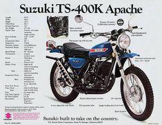 1973 Suzuki brochure – Online Pin Page Motorcycle Posters, Retro Motorcycle, Suzuki Motorcycle, Classic Motors, Classic Bikes, Classic Cars, Vintage Bikes, Vintage Ads, Vintage Motorcycles