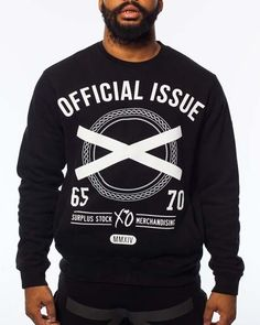 2XO14 CUT & SEWN CREW NECK BLACK  Official Issue XO