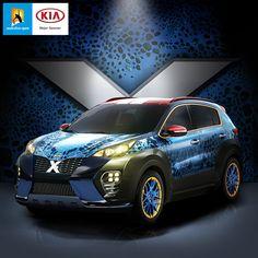 #기아자동차 에서 #이십세기폭스 사와 합작하여 #기아 #엑스카 #미스틱 모델의 이미지를 공개했습니다.  #Kia_motors unveils #Kia #X_Car #Mystique !