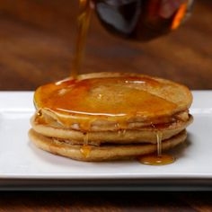 Featuring Chocolate Peanut Butter Pancakes, Banana Pancakes, Cinnamon Roll Pancakes and Blueberry Pancakes Peanut Butter Pancakes, Cinnamon Roll Pancakes, Tasty Pancakes, Banana Pancakes, Chocolate Peanut Butter, Cinnamon Rolls, Baby Food Recipes, Dessert Recipes, Desserts