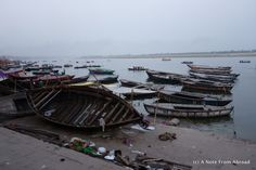 Boats on the Ganges River