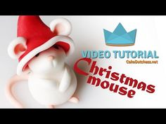 How to make a Christmas Mouse Cake Topper - Cake Decorating Tutorials - YouTube