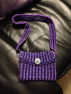 purple rainbow loom purse