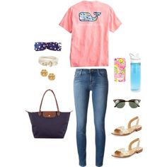 #32 Windy Warm Spring by ultimateprep on Polyvore featuring polyvore, fashion, style, J Brand, Jack Rogers, Longchamp, Tory Burch, Brooks Brothers, Fendi, Ray-Ban and CamelBak