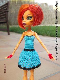 Monster High handmade clothes: dress / vestido : v314 (doll not included)